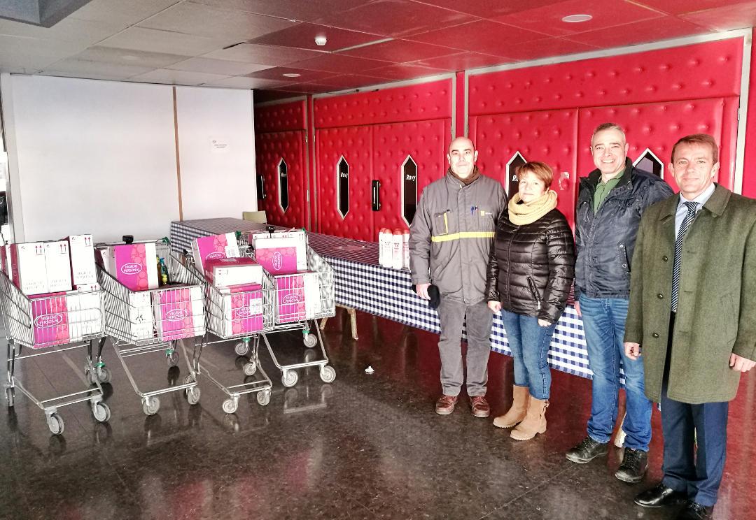 Motrio Vilanova recull 300 quilos d'articles d'higiene al Banc de la Teca