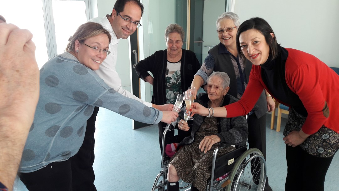 Teodora Vaquero arriba als 104 anys amb energia i bon humor