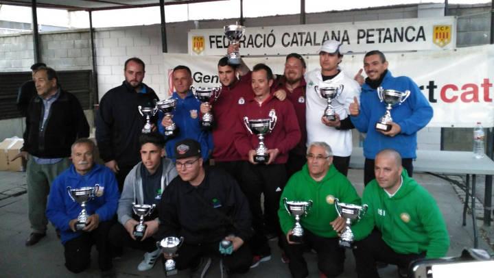 El Club Petanca Santa Lucía es proclama campió de Catalunya de Clubs
