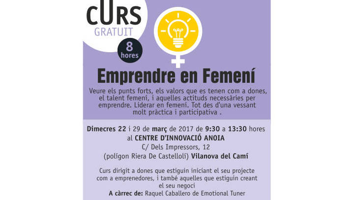 Un curs per acompanyar les dones emprenedores