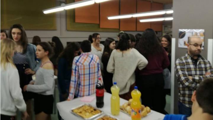 Vilanova ofereix un càlid comiat als estudiants d'Amilly