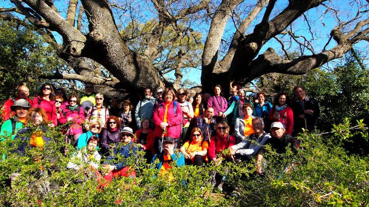 La Colla gaudeix d'un dia primaveral al Puig Castellar i el Roure d'Ancosa