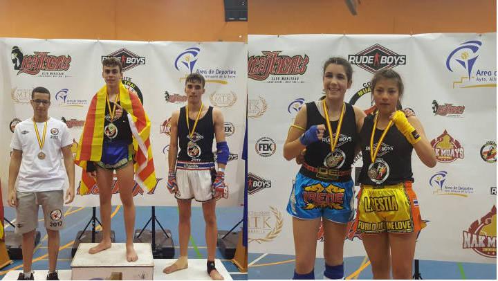 David González i Thalia Soler, campió i subcampiona d'Espanya de muaythai