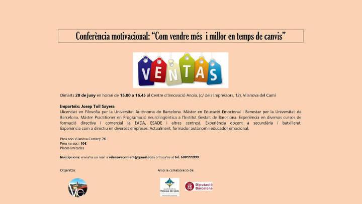 Vilanova Comerç organitza una conferència motivacional per vendre més i millor en temps de canvis