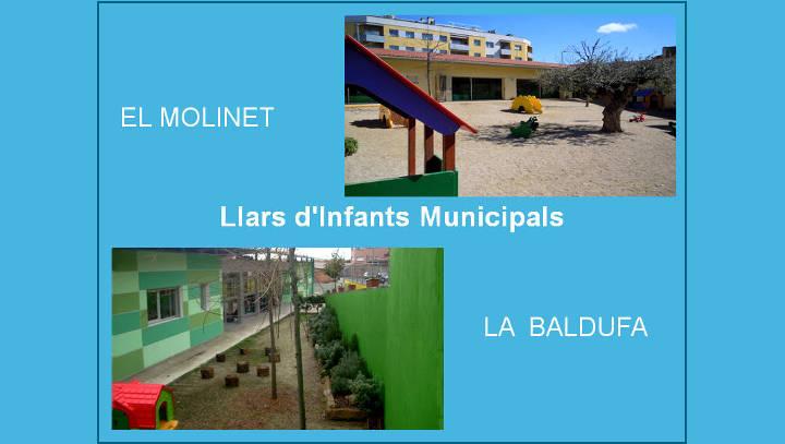 Les llars d'infants La Baldufa i El Molinet celebraran jornada de portes obertes el 27 d'abril