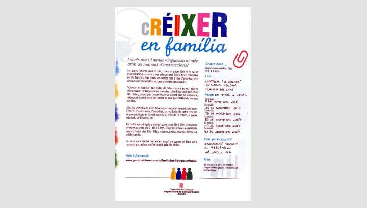 Els tallers gratuïts 'Créixer en família' volen ajudar a exercir una parentalitat positiva |ÀUDIO|