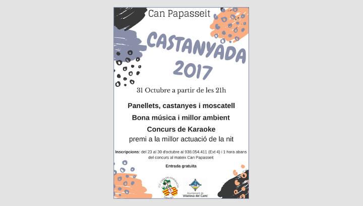 Panellets, castanyes i un concurs de karaoke per celebrar a Vilanova la Castanyada 2017