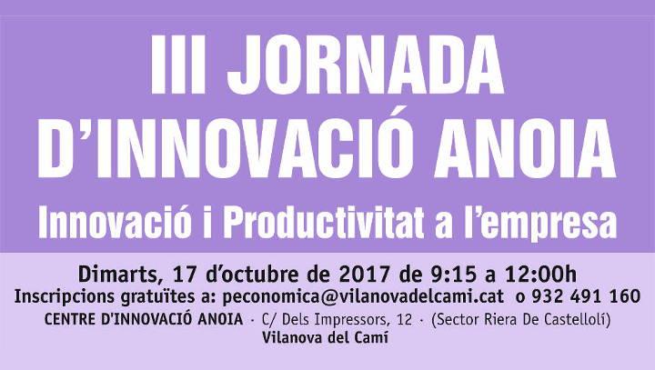 Innovació i productivitat a les empreses, lema de la tercera Jornada d'Innovació a Vilanova del Camí