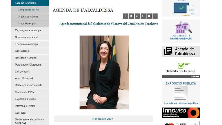 L'agenda de l'alcaldessa ja es pot consultar al Portal de Transparència