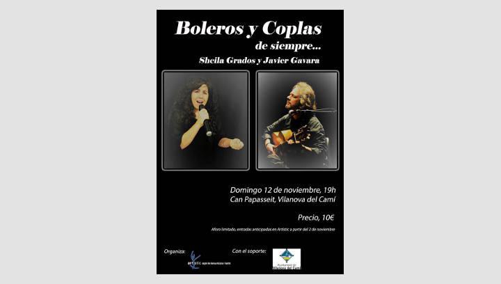 """""""Boleros y coplas de siempre"""" amb Sheila Grados i Javier Gavara aquest diumenge a Can Papasseit"""