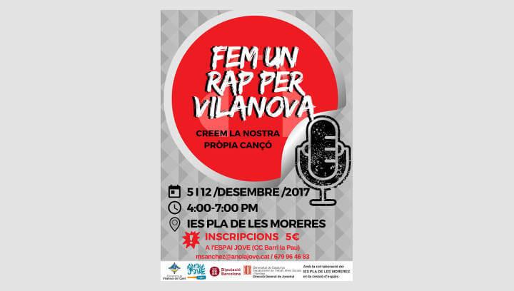 Fem un rap per Vilanova, és la nova proposta de l'Espai Jove per al mes de desembre