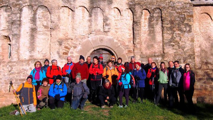 Una excursió molt cultural de la Colla vilanovina a Sant Julià de Coaner