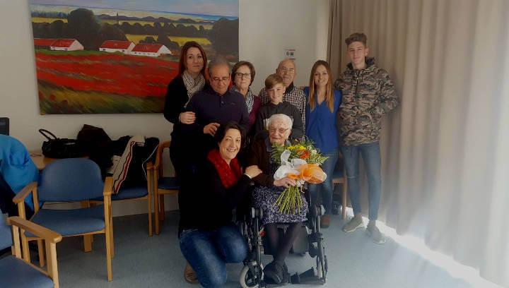 Isabel Santano va celebrar dissabte el seu 103 aniversari