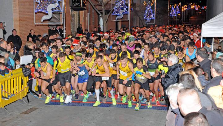 La 19a Sant Silvestre frega els 800 participants i proclama Guillem Carner i Anna Noguera guanyadors absoluts dels 5 km |FOTOS|