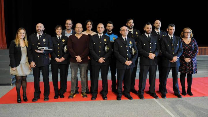 Felicitacions i condecoracions de la Festa del patró per reconèixer l'acció i el servei policial