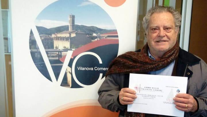 Narcís Selva és el guanyador de l'arbre regal 2017 de Vilanova Comerç