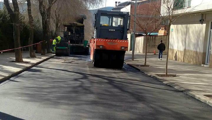 Finalitzades les obres de reasfalt del carrer Fra Juníper Serra