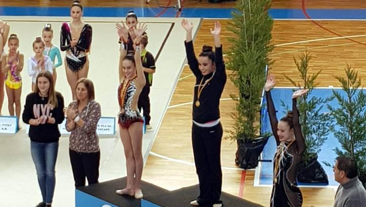 Club Gimnàstic San Roque campió a la 1a fase Copa Catalana individual gimnàstica rítmica nivell base