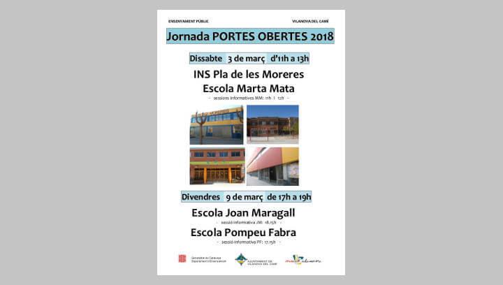 Dissabte serà dia de portes obertes a l'Institut Pla de les Moreres i a l'Escola Marta Mata