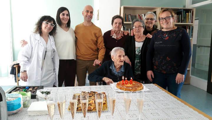 Teodora Vaquero ha celebrat aquest dimecres el seu aniversari, 105 anys |FOTOS|