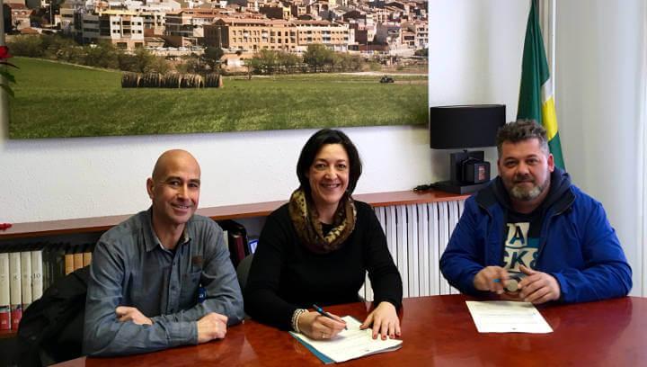L'ajuntament vilanoví cedeix gratuïtament el local social del camp de futbol al CE Anoia