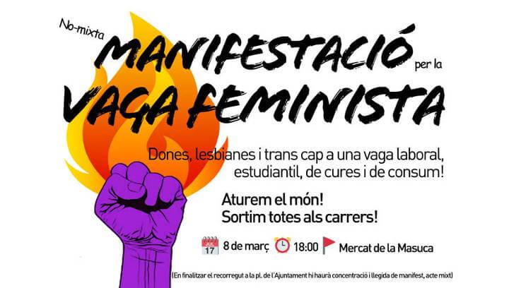Les feministes de l'Anoia es coordinen i mobilitzen de cara a la vaga general de dones del 8M