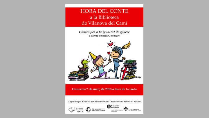 Una hora de 'Contes per a la igualtat de gènere' a la Biblioteca de Vilanova