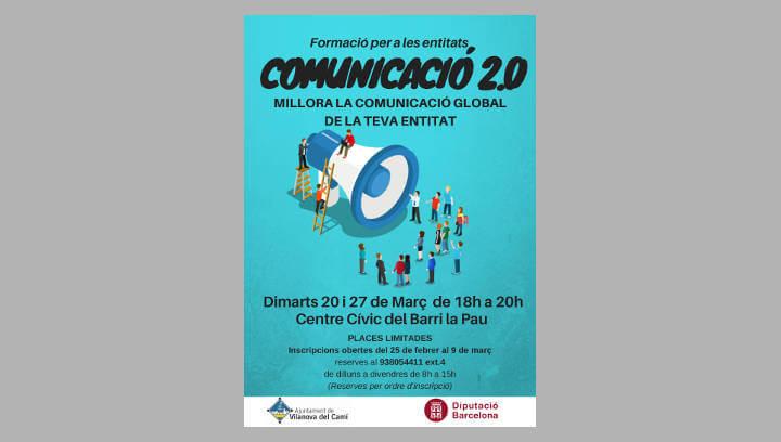 S'ofereixen dues sessions d'un curs de comunicació 2.0 a les entitats locals