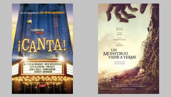 Aquest diumenge s'estrena la cartellera de Vilacine amb la doble projecció de 'Canta' i 'Un monstruo viene a verme'