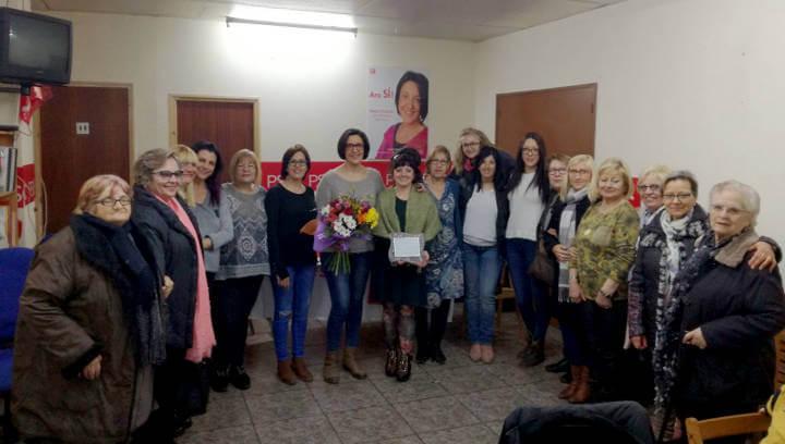 El PSC de Vilanova reconeix Sílvia Rubio com una dona lluitadora, emprenedora i compromesa amb el municipi en el marc del 8 de març