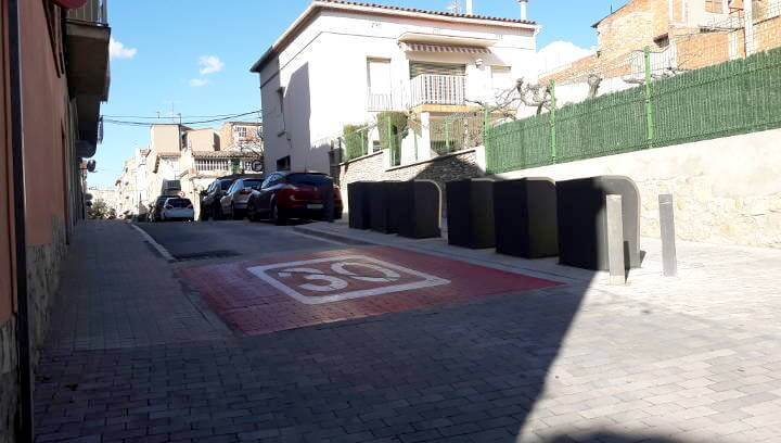 Finalitzen les obres de prolongació del paviment del carrer Sant Hilari