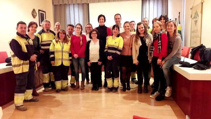 El govern vilanoví dona la benvinguda a 14 persones que treballaran pel municipi gràcies a diferents programes ocupacionals