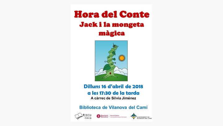 La història d'unes mongetes meravelloses a la Biblioteca de Vilanova del Camí