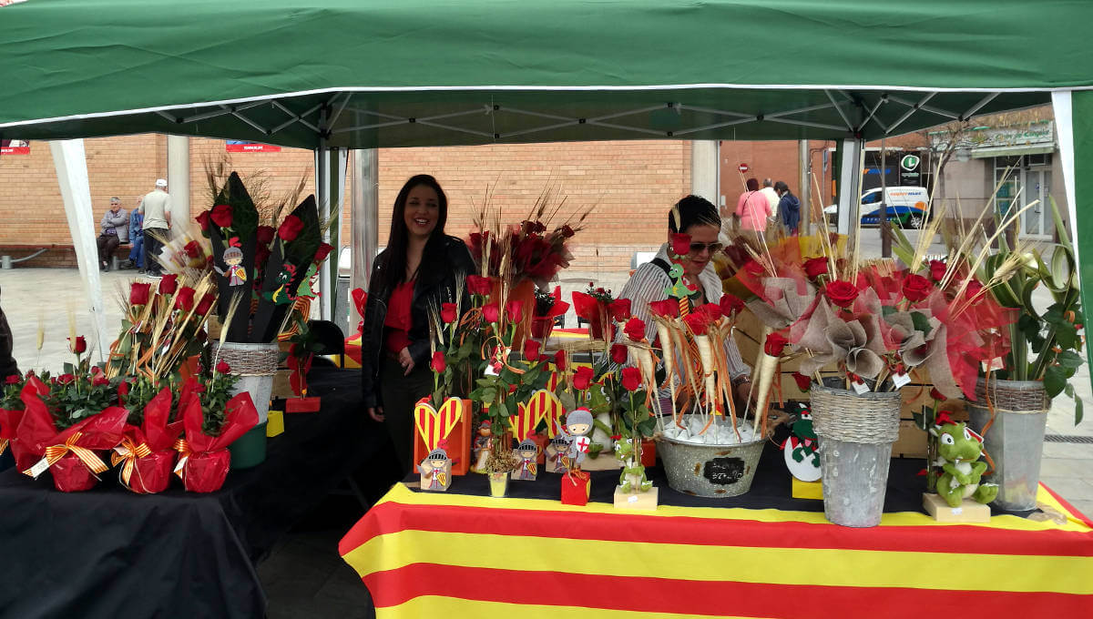Les roses vermelles han competit amb les roses grogues aquesta Diada de Sant Jordi a Vilanova del Camí |ÀUDIO|