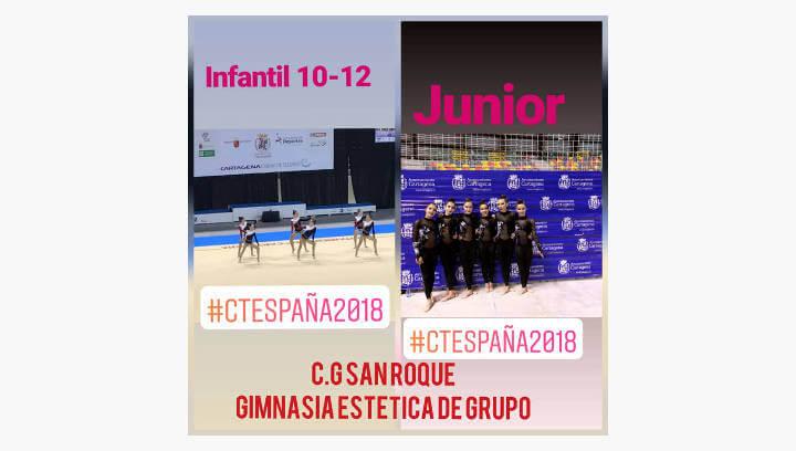Setena i vuitena posició del San Roque al Campionat d'Espanya de Gimnàstica Estètica de grup