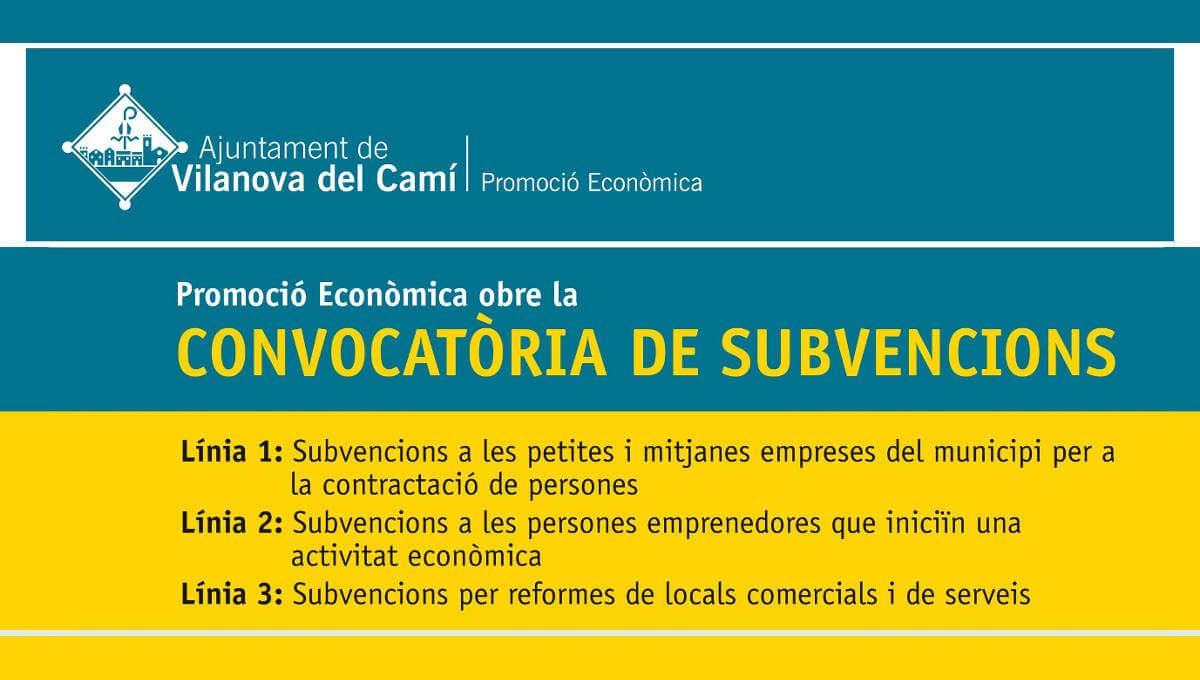 Promoció Econòmica reedita tres línies de subvencions per incentivar la creació d'ocupació i de noves activitats econòmiques