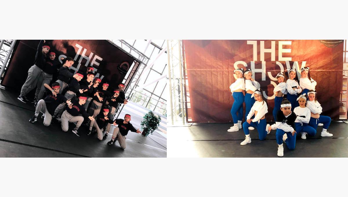 Molt bones posicions dels equips de hip hop vilanovins Steps i Huesitos