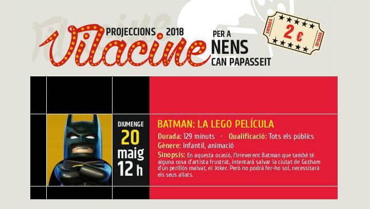 Sessió de Vilacine amb l'esbojarrada aventura de 'Batman la Lego película'