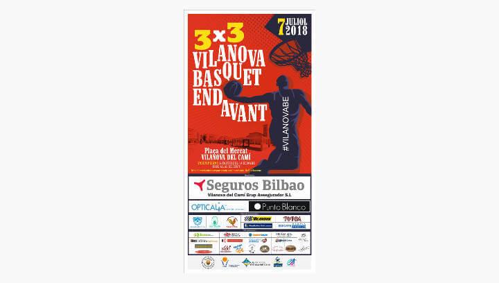 Un total de 19 equips competiran en la 1a edició del 3×3 Vilanova Bàsquet Endavant