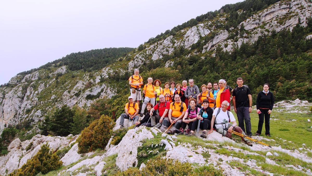 La Colla Excursionista de Vilanova, a la Roca de Canalda (Solsonès)