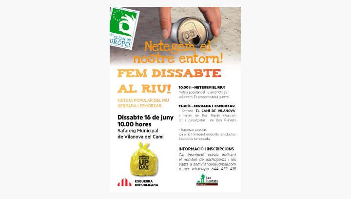 ERC convida a 'fer dissabte' al riu, en el marc de la campanya Clean Up Europa
