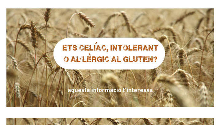Oberta la convocatòria d'ajuts municipals per a persones amb celiaquia, intolerància o al·lèrgia al gluten