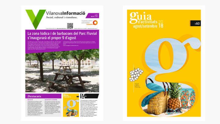 Aquesta setmana es distribueix per les llars vilanovines una nova edició del butlletí i la Guia d'activitats
