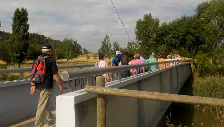 Una vintena de persones participen en una nova caminada saludable per l'entorn natural de Vilanova