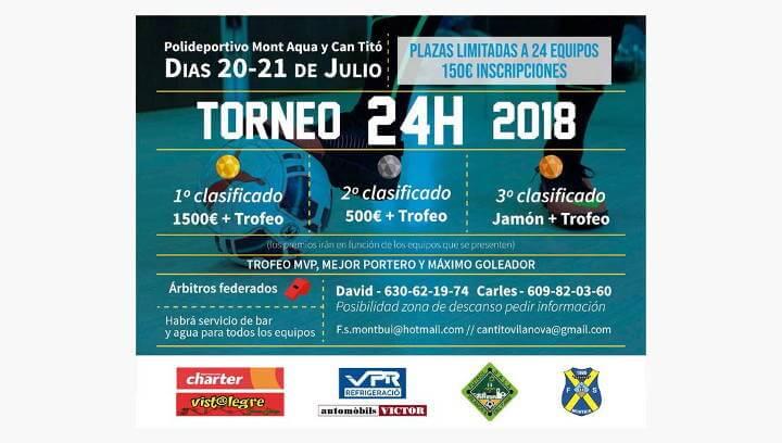 El CFS Can Titó i el CFS Montbui es donen la mà en el torneig de 24 h de futbol sala aquest divendres al vespre