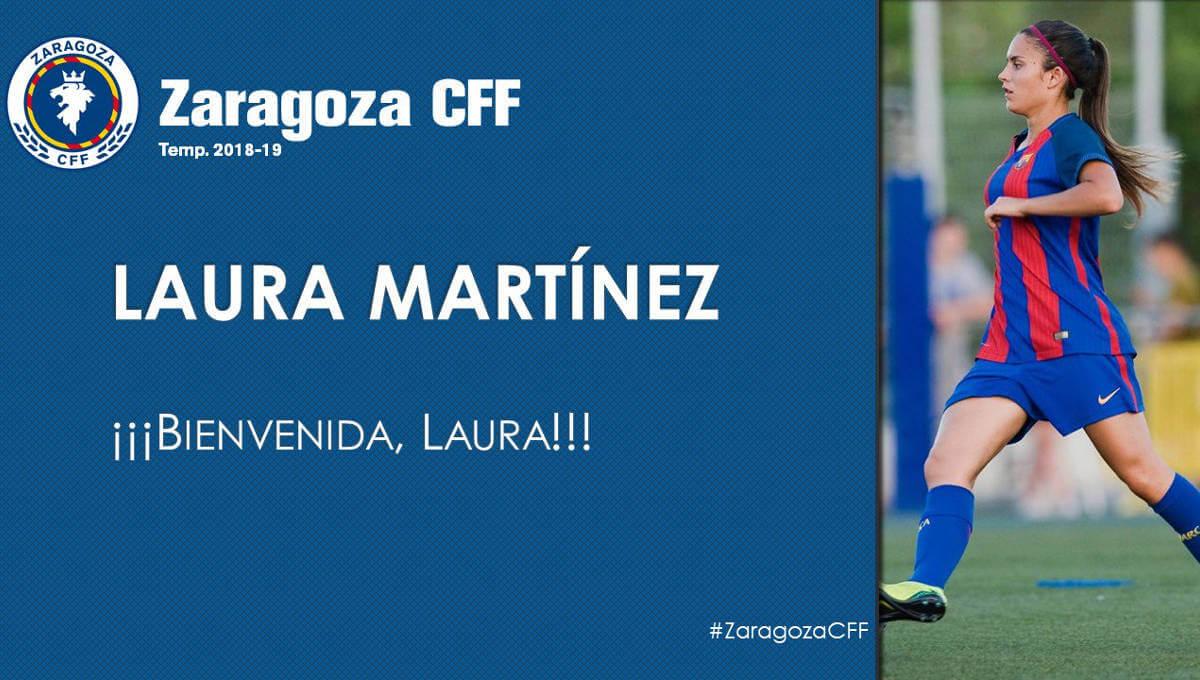 La futbolista vilanovina Laura Martínez emprèn una nova etapa al Zaragoza CFF