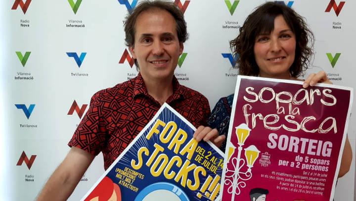Vilanova Comerç enceta dues noves campanyes aquest mes de juliol: el Fora Stocks i els Sopars a la Fresca |ÀUDIO|