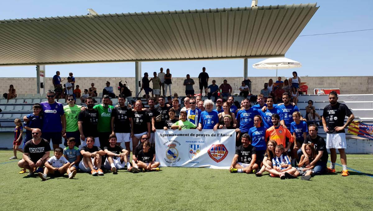 La Peña Madridista guanya la triangular de penyes que va portar a Can Titó la Blanc i Blava i la Blaugrana d'Igualada