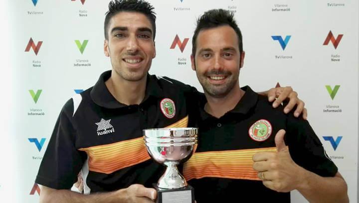 Alfonso González i Carlos Caldito del Club Petanca Vilanova queden subcampions de Catalunya per parelles |ÀUDIO|