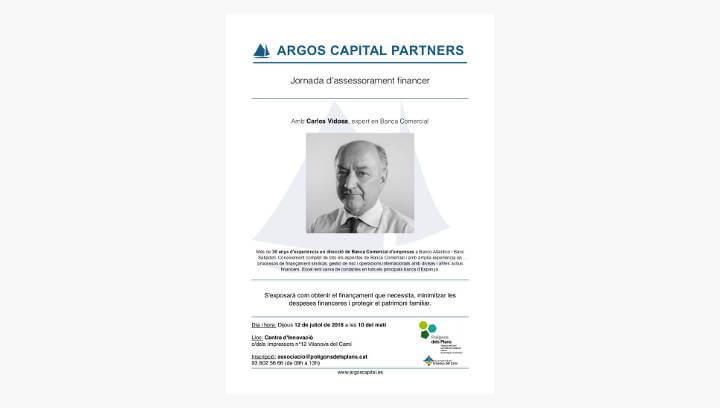 L'Associació Polígons dels Plans organitza una jornada d'assessorament financer amb l'expert Carles Vidosa